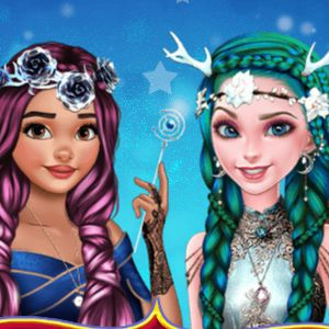 Elsa and Moana Fantasy Hairstyles