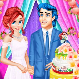 Ariel And Eric Wedding Cake Cooking