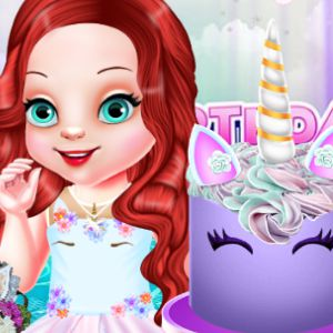 Baby Ariel's Unicorn Birthday Party