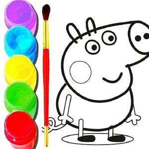 Back To School Peppa Pig Coloring