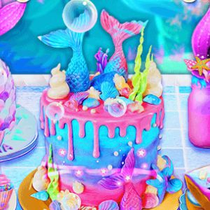 Unicorn Chef Mermaid Cake